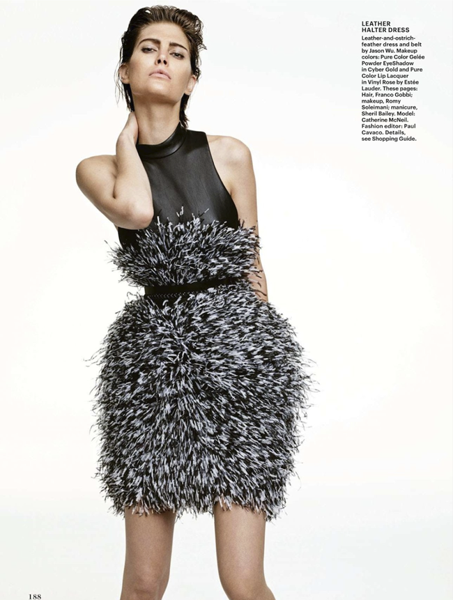 ALLURE MAGAZINE- Catherine McNeil in Feather Dusters by Terry Tsiolis. Paul Cavaco, December 2013, www.imageamplified.com, Image Amplified