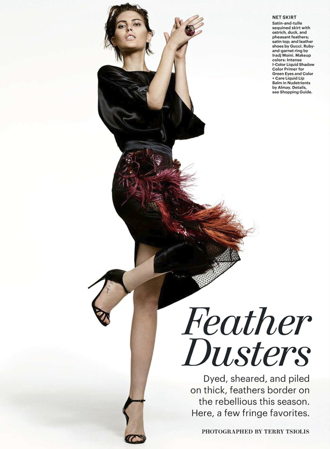 ALLURE MAGAZINE- Catherine McNeil in Feather Dusters by Terry Tsiolis. Paul Cavaco, December 2013, www.imageamplified.com, Image Amplified (1)