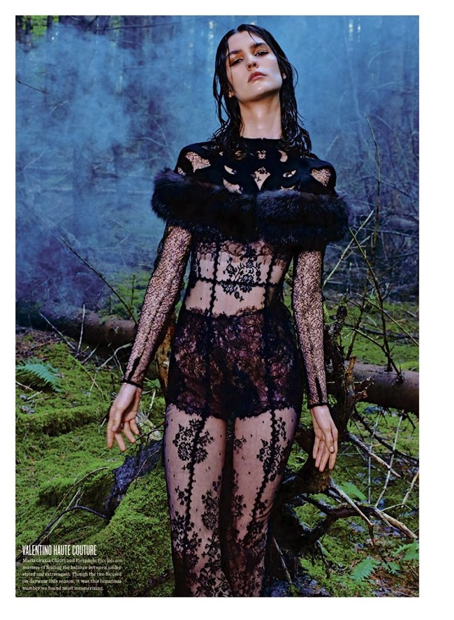 V MAGAZINE- Manon Leloup in The Nature of Couture by Kacper Kasprzyk. Tom Van Dorpe, Fall 2013, www.imageamplified.com, Image Amplified (2)