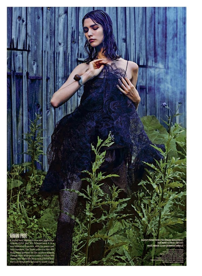 V MAGAZINE- Manon Leloup in The Nature of Couture by Kacper Kasprzyk. Tom Van Dorpe, Fall 2013, www.imageamplified.com, Image Amplified (6)