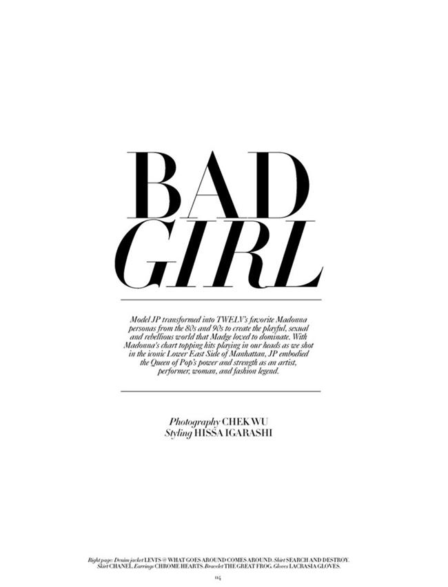 TWELV MAGAZINE- Jennifer Pugh in Bad Girl by Chek Wu. Hissa Igarashi, Fall 2013, www.imageamplified.com, Image Amplified