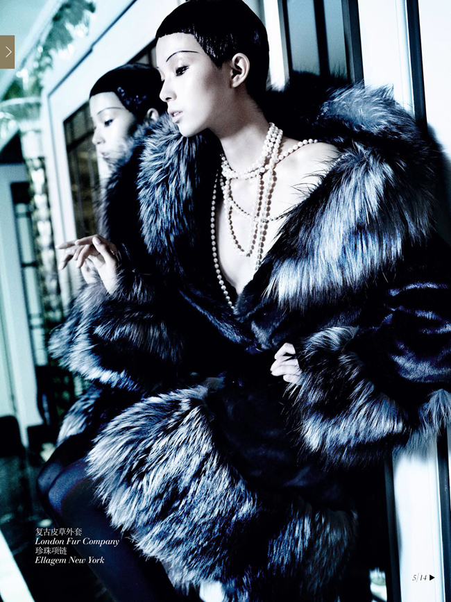 VOGUE CHINA- Xiao Wen Ju & Christopher Goh in The Winter Queen by Mario Testino. Sarajane Hoare, December 2013, www.imageamplified.com, Image Amplified (3)