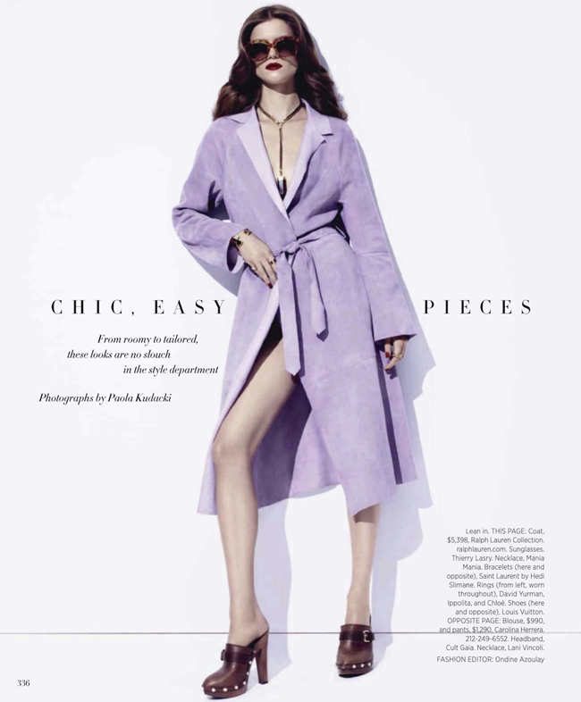 HARPER'S BAZAAR MAGAZINE- Kasia Struss in Chic, Easy Pieces by Paola Kudacki. Ondine Azoulay, January 2014, www.imageamplified.com, Image Amplified