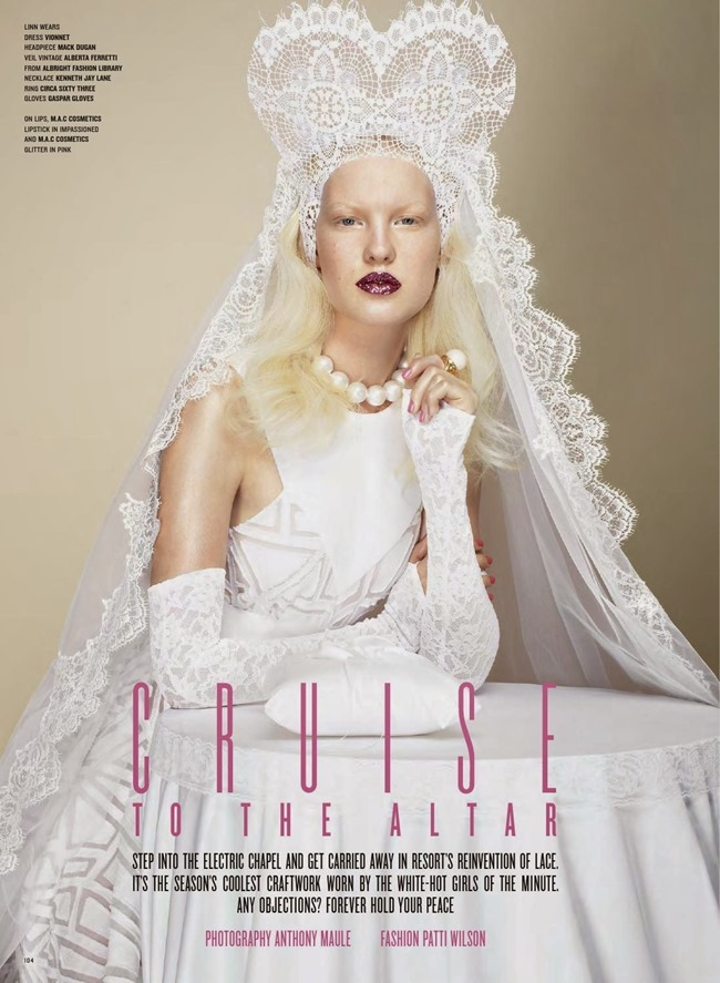 V MAGAZINE- Cruise To The Altar by Anthony Maule. Patti Wilson, Fall 2013, www.imageamplified.com, Image Amplified