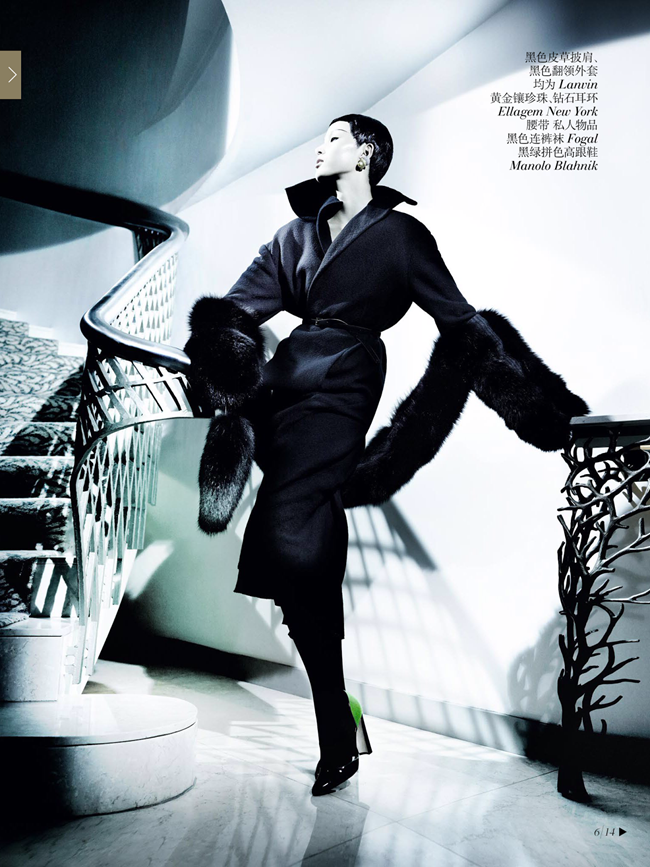 VOGUE CHINA- Xiao Wen Ju & Christopher Goh in The Winter Queen by Mario Testino. Sarajane Hoare, December 2013, www.imageamplified.com, Image Amplified (4)