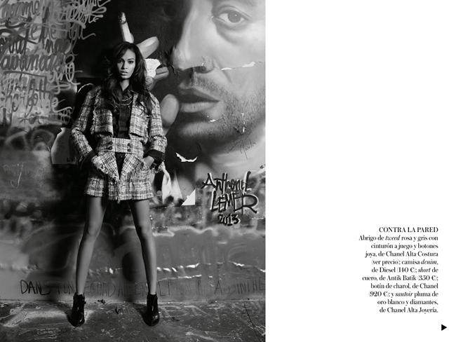 VOGUE SPAIN- Joan Smalls in Midnight in Paris by Karl Lagerfeld. Belen Antolin, December 2013, www.imageamplified.com, Image Amplified (6)