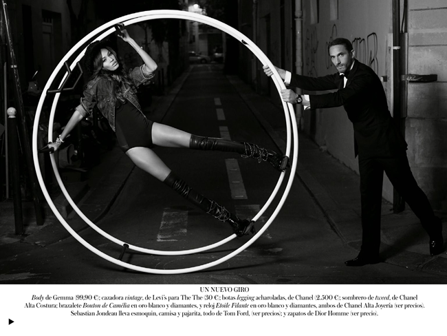 VOGUE SPAIN- Joan Smalls in Midnight in Paris by Karl Lagerfeld. Belen Antolin, December 2013, www.imageamplified.com, Image Amplified (4)