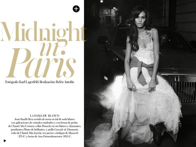 VOGUE SPAIN- Joan Smalls in Midnight in Paris by Karl Lagerfeld. Belen Antolin, December 2013, www.imageamplified.com, Image Amplified (1)