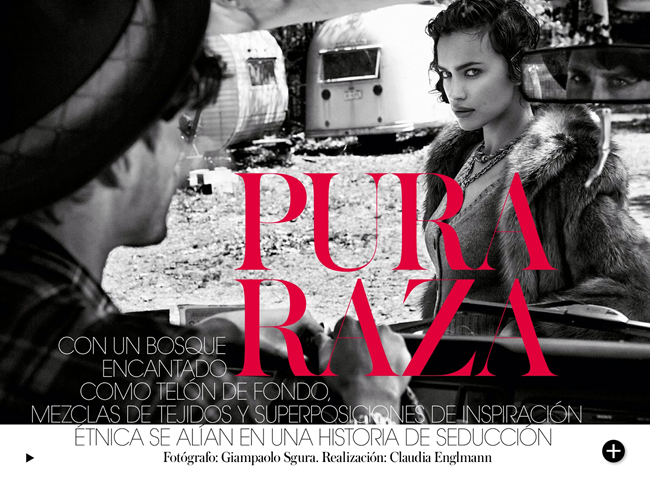 VOGUE SPAIN- Irina Shayk in Pura Raza by Gaimpaolo Sgura. Claudia Englmann, December 2013, www.imageamplified.com, Image Amplified