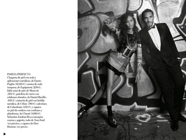 VOGUE SPAIN- Joan Smalls in Midnight in Paris by Karl Lagerfeld. Belen Antolin, December 2013, www.imageamplified.com, Image Amplified (3)