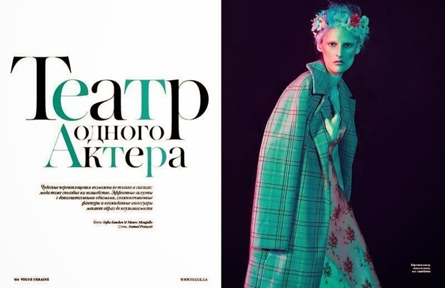 VOGUE UKRAINE- Marie Piovesan in Theatre of One Actor by Sofia Sanchez & Mauro Mongiello. Samuel Francois, December 2013, www.imageamplified.com, Image amplified