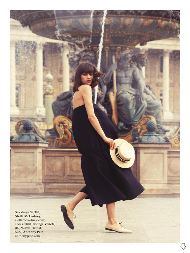 ELLE AUSTRALIA- Sibui Nazarenko in Paris Je T'aime by Stefania Paparelli. Nicole Bonython-Hines, December 2013, www.imageamplified.com, Image amplified