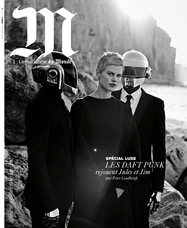 M LE MONDE- Saskia De Brauw & Daft Punk by Peter Lindbergh, Fall 2013, www.imageamplified.com, Image Amplified