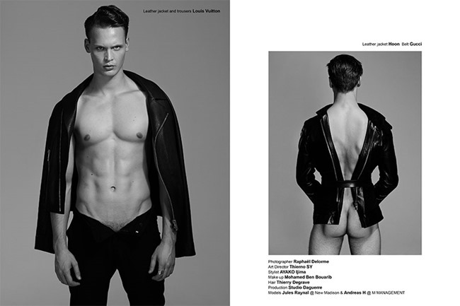 FUCKING YOUNG! ONLINE- Jules Raynal & Andreas H in Black Passion by Raphael Delorme & Thierno Sy. Ayako Ijima, Fall 2013, www.imageamplified.com, Image Amplified (11)