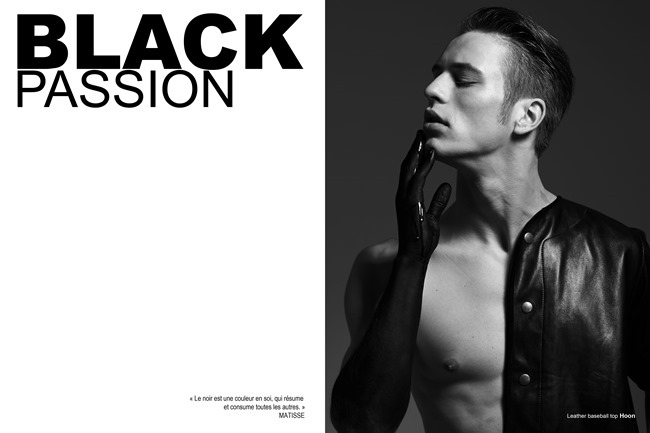 FUCKING YOUNG! ONLINE- Jules Raynal & Andreas H in Black Passion by Raphael Delorme & Thierno Sy. Ayako Ijima, Fall 2013, www.imageamplified.com, Image Amplified