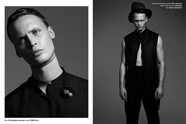 FUCKING YOUNG! ONLINE- Jules Raynal & Andreas H in Black Passion by Raphael Delorme & Thierno Sy. Ayako Ijima, Fall 2013, www.imageamplified.com, Image Amplified (6)