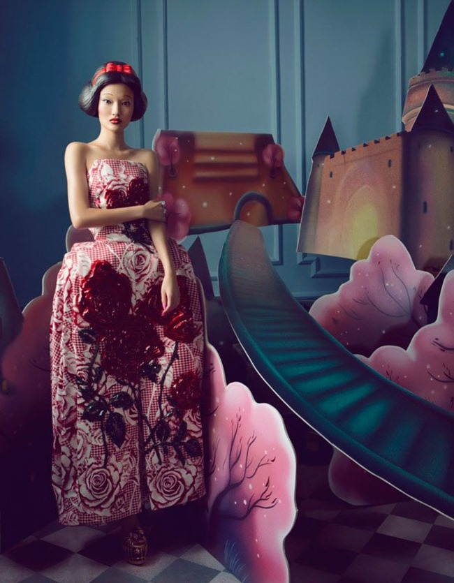 HARPER'S BAZAAR CHINA- Yan Xu in Dream of the Dress by Shxpir. Wang Ying, Fall 2013, www.imageamplified.com, Image amplified