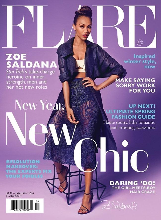 FLARE MAGAZINE- Zoe Saldana by James White. January 2014, www.imageamplified.com, Image Amplified (1)