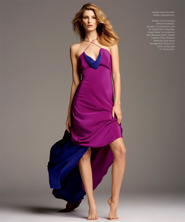 HARPER'S BAZAAR MEXICO- Ava Smith by Blossom Berkofsky. Nick Nelson, December 2013, www.imageamplified.com, image Amplified