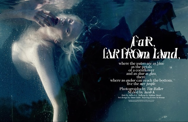 W MAGAZINE- Kristen McMenamy in Far, Far From Land by Tim Walker. Jacob K, January 2014, www.imageamplified.com, Image Amplified