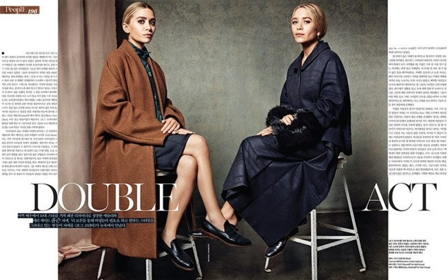 VOGUE KOREA- Mary-Kate & Ashley Olsen in Double Act by Michael Schwartz. Aeri Yun, Fall 2013, www.imageamplified.com, Image Amplified