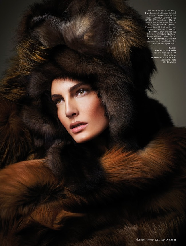 L'OFFICIEL MAROC- Mariana Coldebella in Fur Game by Laurence Laborie. December 2013, www.imageamplified.com, Image amplified (2)