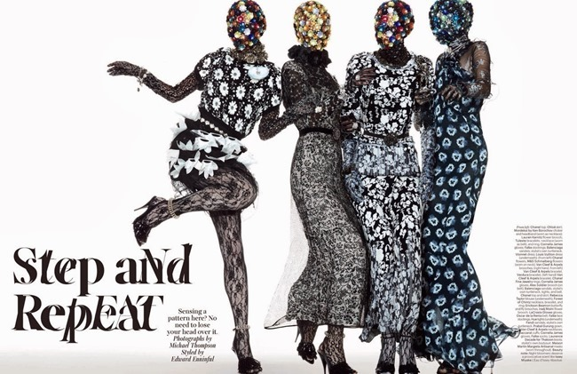 W MAGAZINE- Step and Repeat by Michael Thompson. Edward Enninful, January 2014, www.imageamplified.com, Image amplified