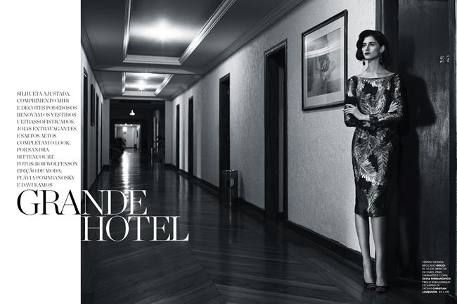 MARIE CLAIRE BRAZIL- Daiane Contrerato in Grande Hotel by Bob Wolfenson. Flavia Pommianosky, December 2013, www.imageamplified.com, Image Amplified