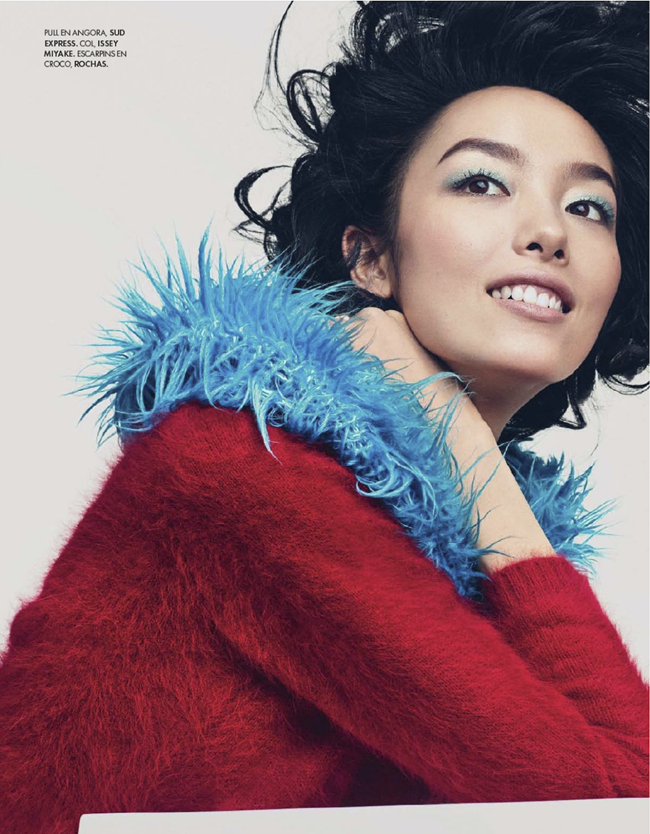 ELLE FRANCE- Fei Fei Sun in Couleurs Du Temps by Andreas Sjodin. Michele Beaurenaut, December 2013, www.imageamplified.com, Image amplified (1)