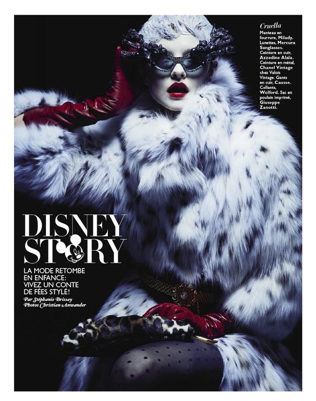 GRAZIA FRANCE- Kamila Filipcikova in Disney Story by Christian Anwander. Stephanie Brissay, December 2013, www.imageamplified.com, Image amplified