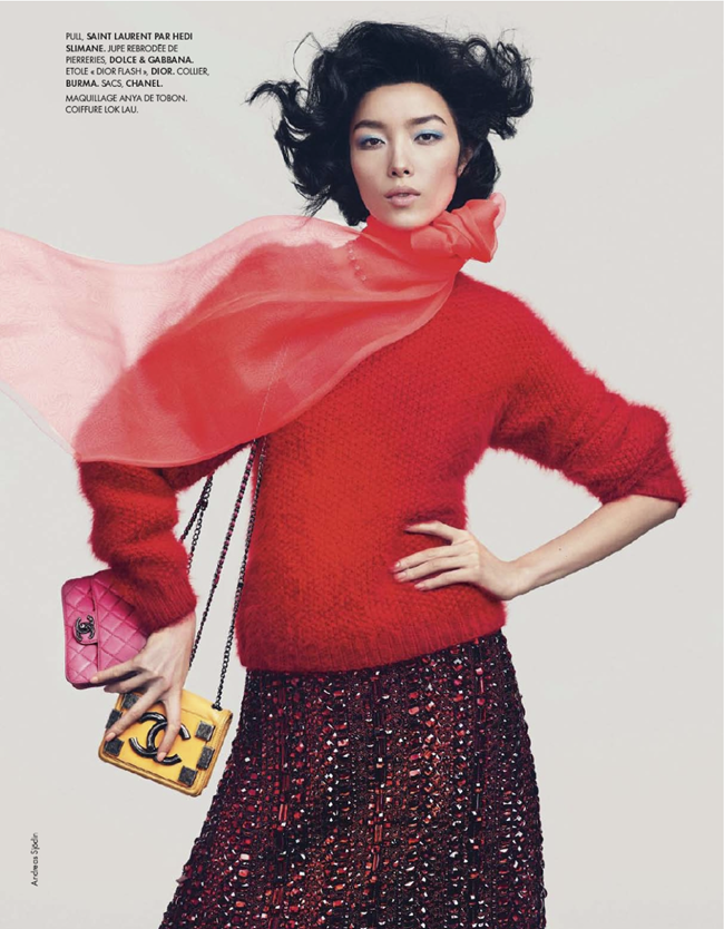 ELLE FRANCE- Fei Fei Sun in Couleurs Du Temps by Andreas Sjodin. Michele Beaurenaut, December 2013, www.imageamplified.com, Image amplified (20)