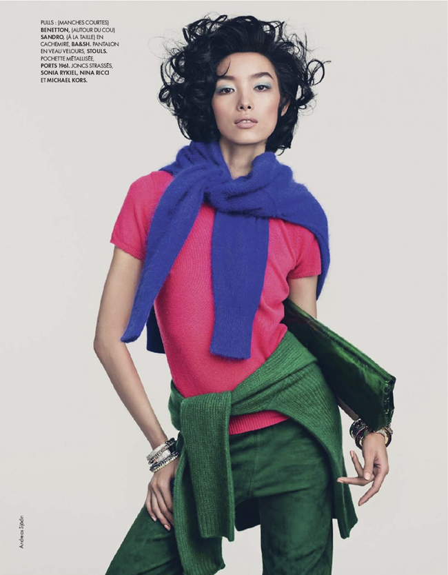 ELLE FRANCE- Fei Fei Sun in Couleurs Du Temps by Andreas Sjodin. Michele Beaurenaut, December 2013, www.imageamplified.com, Image amplified (16)