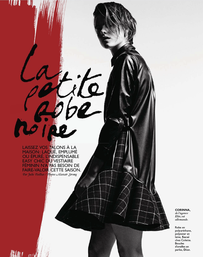 GRAZIA FRANCE- Corinna Ingenleuf in La Petite Robe Noire by Alastair Strong. Julie Pailhas, December 2013, www.imageamplified.com, Image Amplified (1)