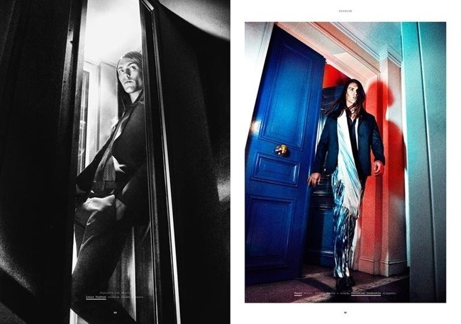 MANUSCRIPT MAGAZINE Travis Smith in Avenue Marceau by Paul Scala. Jonathan Ailwood, Fall 2013, www.imageamplified.com, Image Amplified (1)