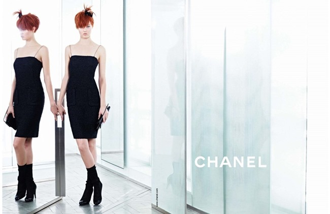 CAMPAIGN Lindsey Wixson & Sasha Luss for Chanel Spring 2014 by Karl Lagerfeld. www.imageamplified.com, Image amplified (10)
