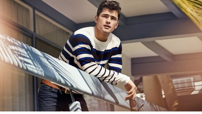 CAMPAIGN Sean O'Pry in Casual Sunday for H&M Spring 2014. www.imageamplified.com, Image Amplified (2)