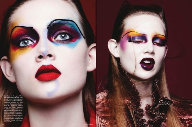 VOGUE GERMANY- Holly Rose & Jenna Earle in Color Codes by Ben Hassett. Karen Kaiser, January 2014, www.imageamplified.com, Image amplified (3)