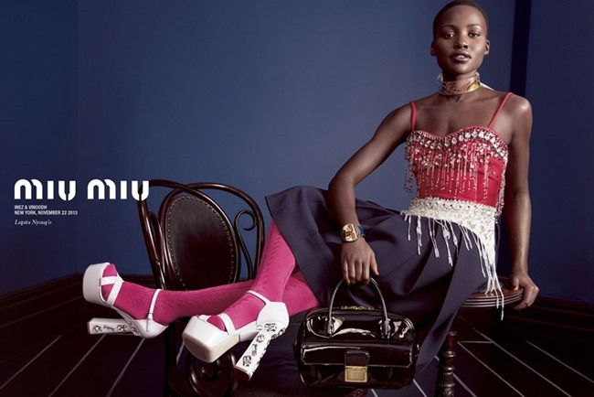 CAMPAIGN Elizabeth Olsen, Lupita Nyong'o, Elle Fanning & Bella heathcote for Miu Miu Spring 2014 by Inez & Vinoodh. Oliver Rizzo, www.imageamplified.com, Image Amplified (3)