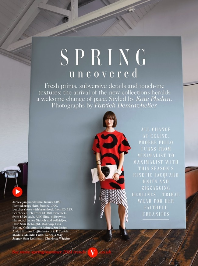 VOGUE UK Spring Uncovered by Patrick Demarchelier. Kate Phelan, February 2014, www.imageamplified.com, Image Amplified (3)