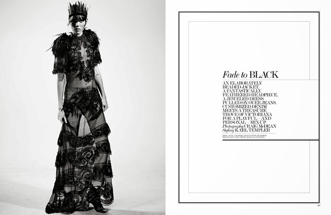 INTERVIEW MAGAZINE- Freja Beha Erichsen in Fade Black by Craig McDean. Karl Templer, January 2014, www.imageamplified.com, Image amplified
