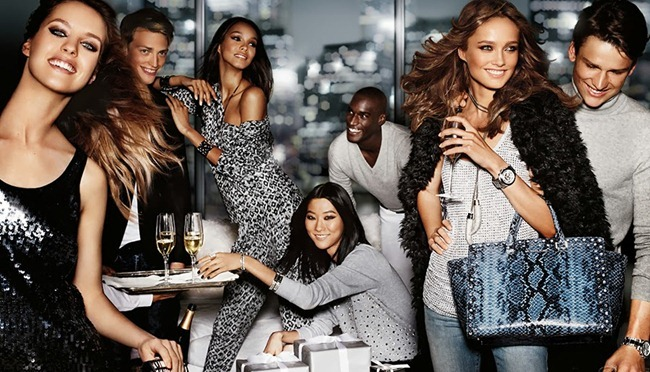 CAMPAIGN- Karmen Pedaru, Simon Nessman, Corey Baptiste & Victor Nylander for Michael Kors Holiday 2013 by Mario Testino. www.imageamplified.com, Image Amplified (1)