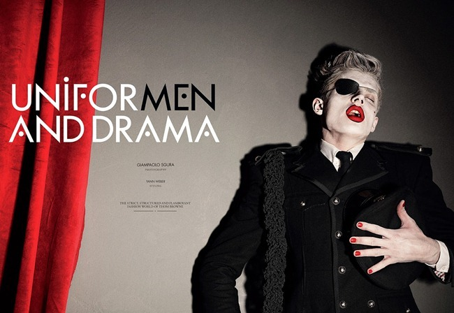 CANDY MAGAZINE- Janis Ancens in Uniform Men & Drama by Giampaolo Sgura. Yann Weber, Spring 2014, www.imageamplified.com, Image Amplified