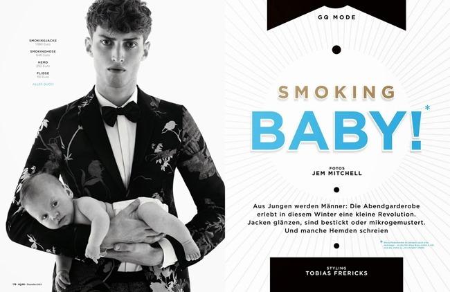 GQ GERMANY- Smoking Baby! by Jem Mitchell. Tobias Frericks, December 2013, www.imageamplified.com, Image amplified