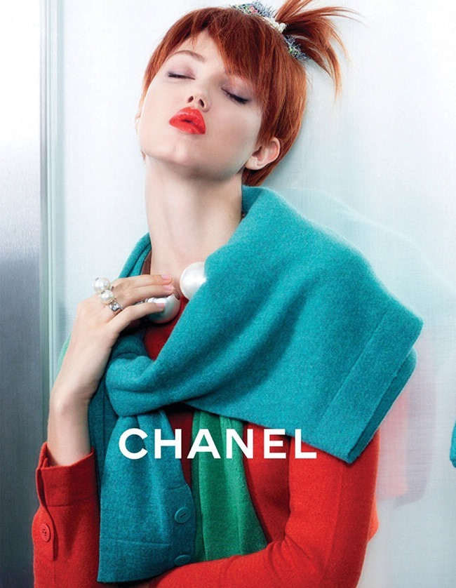 CAMPAIGN Lindsey Wixson & Sasha Luss for Chanel Spring 2014 by Karl Lagerfeld. www.imageamplified.com, Image amplified (8)