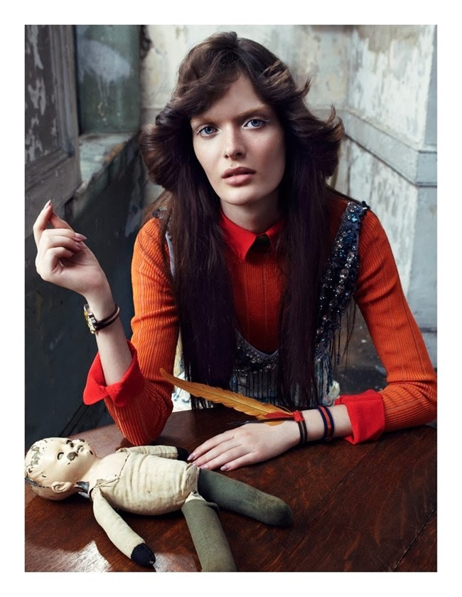 VOGUE ITALIA- Sam Rollinson by Emma Summerton. Elin Svahn, January 2014, www.imageamplified.com, Image amplified