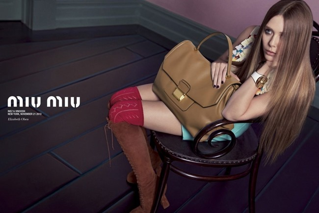 CAMPAIGN Elizabeth Olsen, Lupita Nyong'o, Elle Fanning & Bella heathcote for Miu Miu Spring 2014 by Inez & Vinoodh. Oliver Rizzo, www.imageamplified.com, Image Amplified (1)