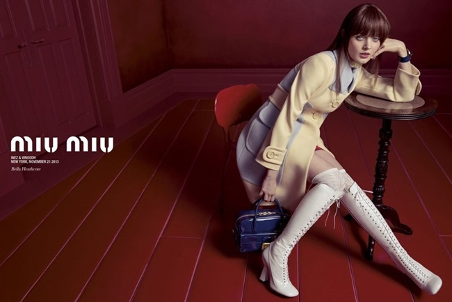 CAMPAIGN Elizabeth Olsen, Lupita Nyong'o, Elle Fanning & Bella heathcote for Miu Miu Spring 2014 by Inez & Vinoodh. Oliver Rizzo, www.imageamplified.com, Image Amplified (4)
