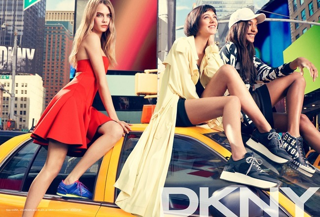 CAMPAIGN Cara Delevigne, Jourdan Dunn, Eliza Cummings & ASAP Rocky for DKNY Summer 2014. www.imageamplified.com, Image Amplified (1)