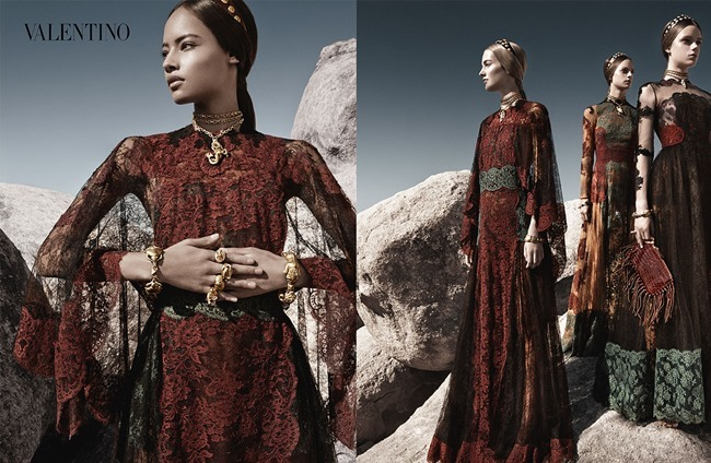 CAMPAIGN Malaika Firth, Auguste Abeliunaite, Ine Neefs, Esther Heesch & Maartje Verhoef for Valentino Spring 2014 by Craig McDean. Karl Templer, www.imageamplified.com, Image Amplified (7)