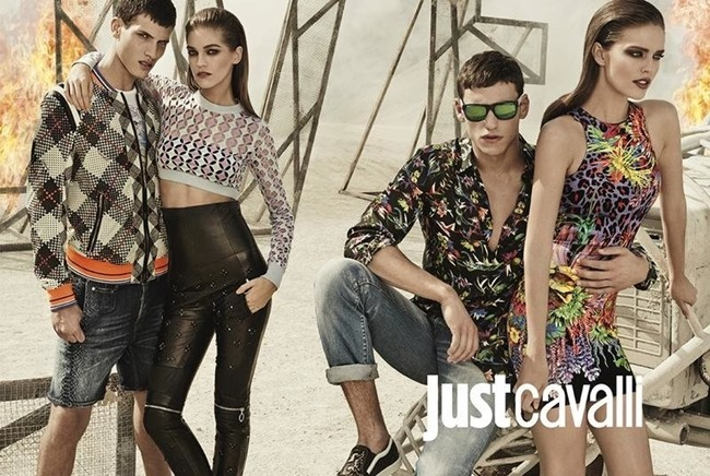 CAMPAIGN Adrian Cardoso, Mariano Ontanon, Emily DiDonato & Samantha Gradoville for Just Cavalli Spring 2014 by Giampaolo Sgura. Veronique Didry, www.imageamplified.com, Image Amplified (6)